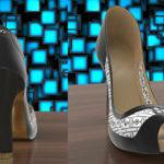 Elegantes zapatos de tacón alto cambian de color con un app