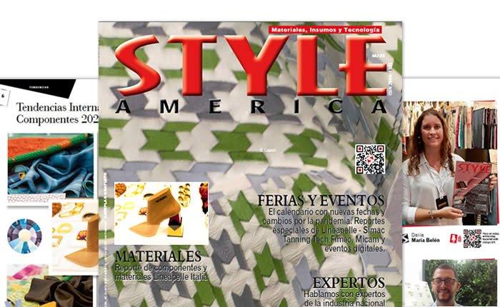 Lanzamiento revista Style América materiales, tendencias y tecnología segundo semestre 2020